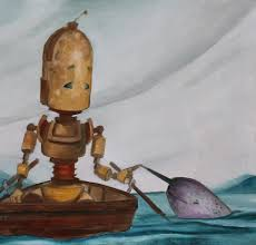 "Lauren Briere - Robots In Rowboats: ""Narwhal Bot"" Print"