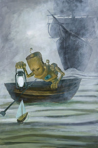 "Lauren Briere - Robots In Rowboats: ""Sail Bot"" Print"