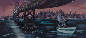 "Lauren Briere - Robots In Rowboats: ""San Fran Bot"" Print"