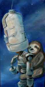 "Lauren Briere - Robots In Rowboats: ""Sloth Bot"" Print"