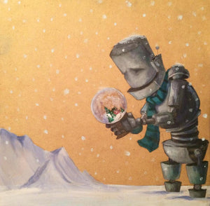 "Lauren Briere - Robots In Rowboats: ""Snow Globe Bot"" Print"