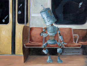 "Lauren Briere - Robots In Rowboats: ""Subway Bot"" Print"