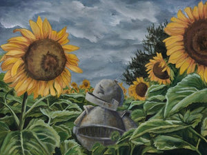 "Lauren Briere - Robots In Rowboats: ""Sunflower Bot"" Print"