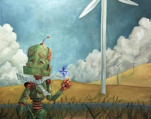 "Lauren Briere - Robots In Rowboats: ""Turbine Bot"" Print"