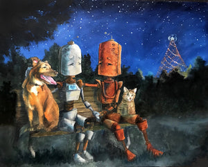 "Lauren Briere - Robots In Rowboats: ""Austin Lovers Bot"" Print"