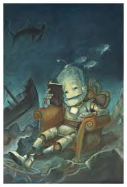 "Lauren Briere - Robots In Rowboats: ""Deep Reader Bot"" Print"