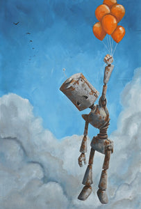 "Lauren Briere - Robots In Rowboats: ""Float Away Bot"" Print"