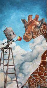 "Lauren Briere - Robots In Rowboats: ""Giraffe Bot"" Print"