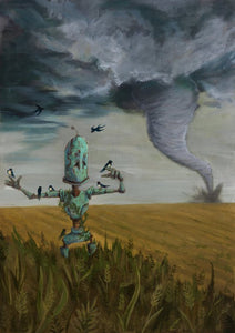 "Lauren Briere - Robots In Rowboats: ""Tornado Bot"" Print"