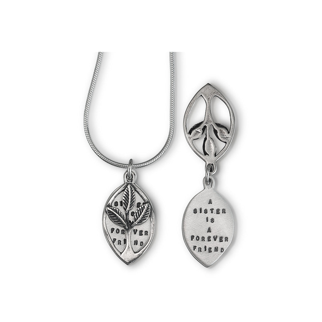 Kathy Bransfield: Pendant with Chain- Sisters (Silver)
