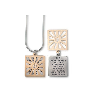 Kathy Bransfield: Pendant with Chain- Thoreau Sun