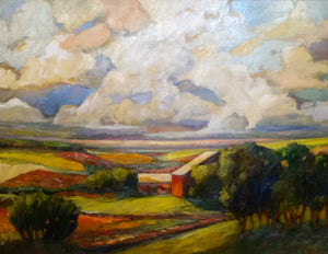 M.S. (Mike) Ryan: Spring Sky Framed Oil