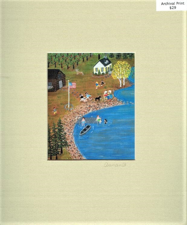 Suzanne Aunan - Lake With Cabins
