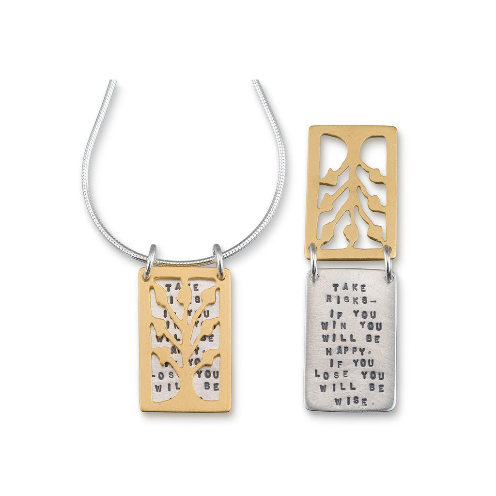 Kathy Bransfield: Pendant with Chain- Take Risks