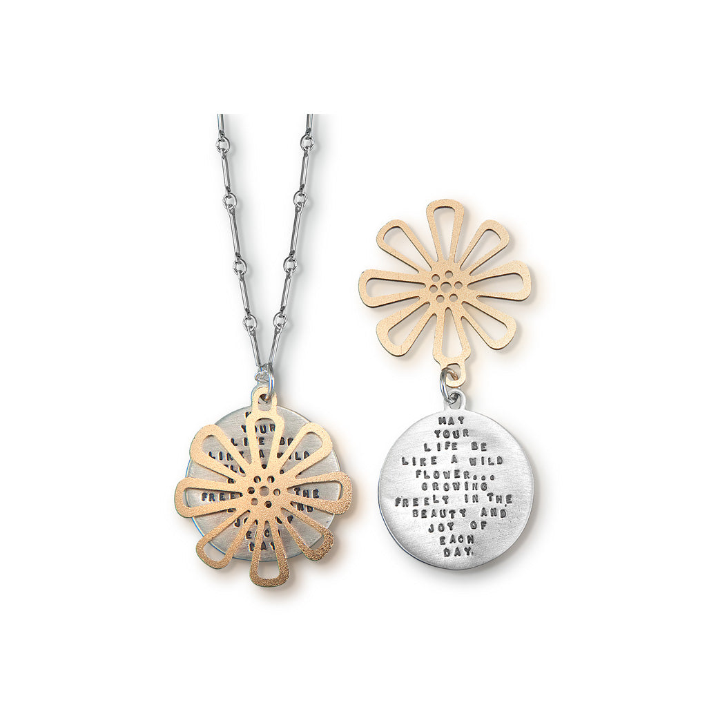 Kathy Bransfield: Pendant with Chain- Wild Flower