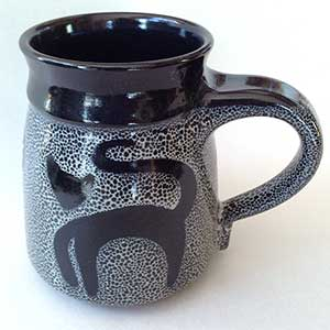 What Cheer: Black Cat Mug