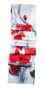 "Joanna Alot: Scarf ""Red Poppies"""