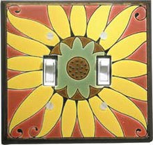 All Fired Up! Ltd. : Mexican Sunflower Switch Plate Covers