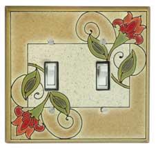 All Fired Up! Ltd. : Jacobean Flowers Switch Plate Covers