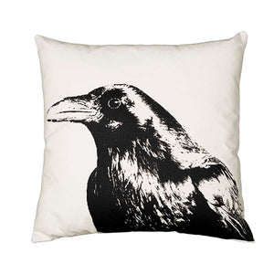 Eric & Christopher: Large Crow Head Pillow