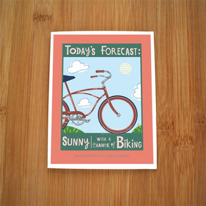 Kate Brennan Hall: Today's Forecast/Biking Cards