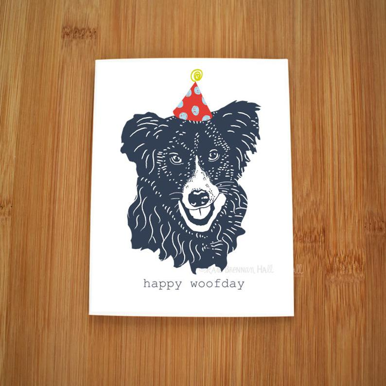 Kate Brennan Hall: Border Collie Woofday Postcards 10 Pack