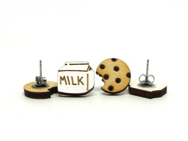 UnPossible Cuts: Milk and Cookies Earrings