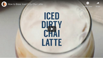 How to Brew: Iced Dirty Chai Latte