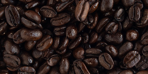 Bed of Black Knight coffee beans.