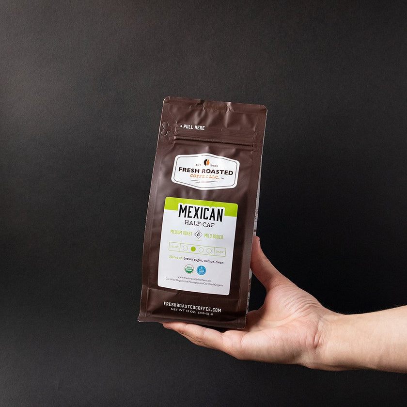 Organic Mexican Swiss Water Half Caf - Roasted Coffee