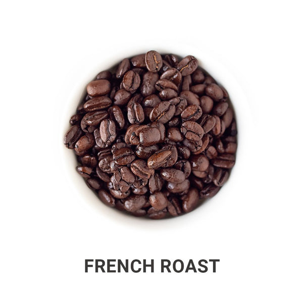 French Roast coffee beans.