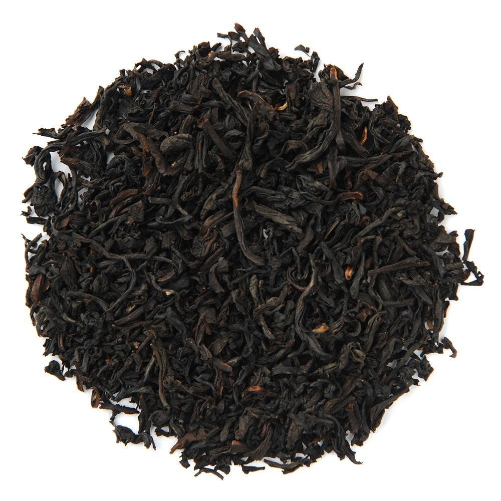 Pile of Organic French Breakfast Black Tea.