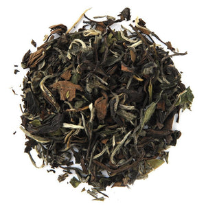 A pile of Organic White Peony White Tea.