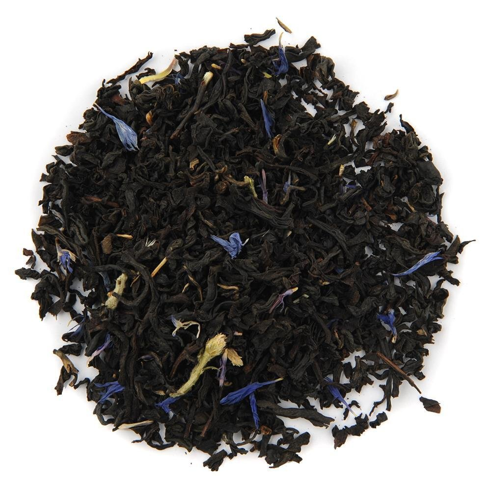A pile of Organic Earl Grey De La Crème Black Tea.