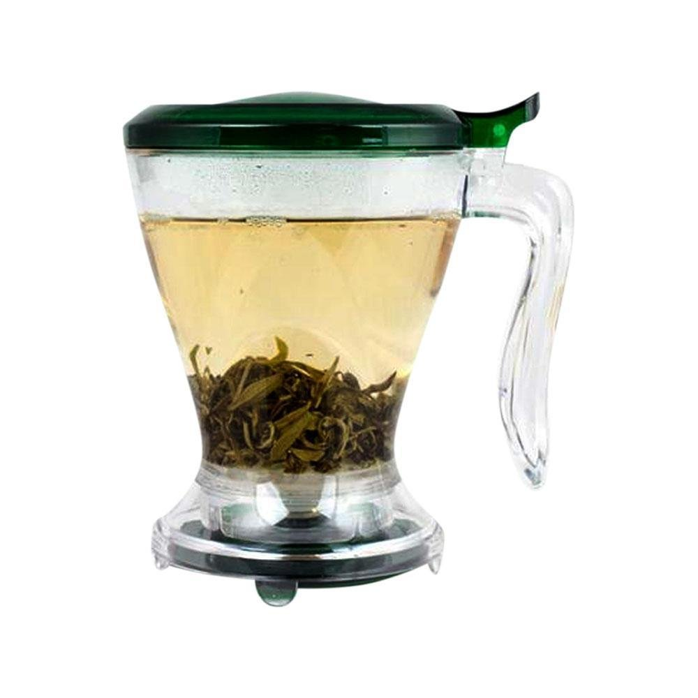 Timolino Ingeni Coffee and Tea Maker filled with water and tea leaves.