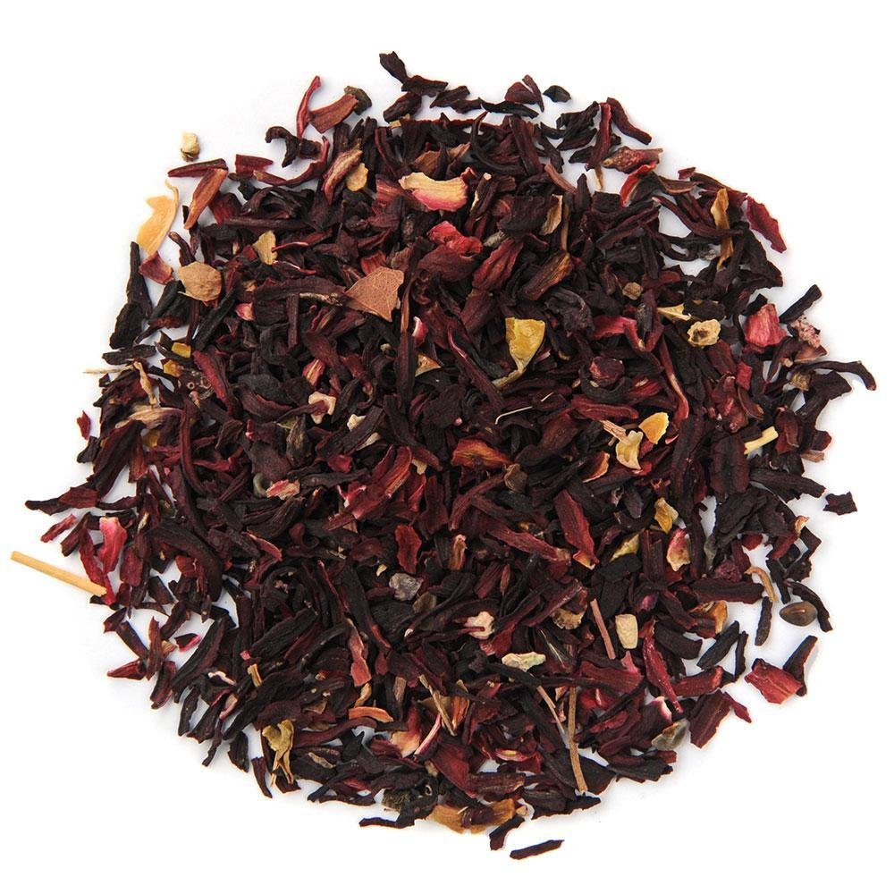 A pile of Organic Hibiscus Tisane Herbal Tea.