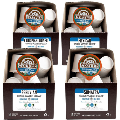 Organic Water Decaf Variety Pack - Single Serve Coffee Pods