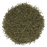 A pile of Organic Peppermint Leaf Herbal Tea.