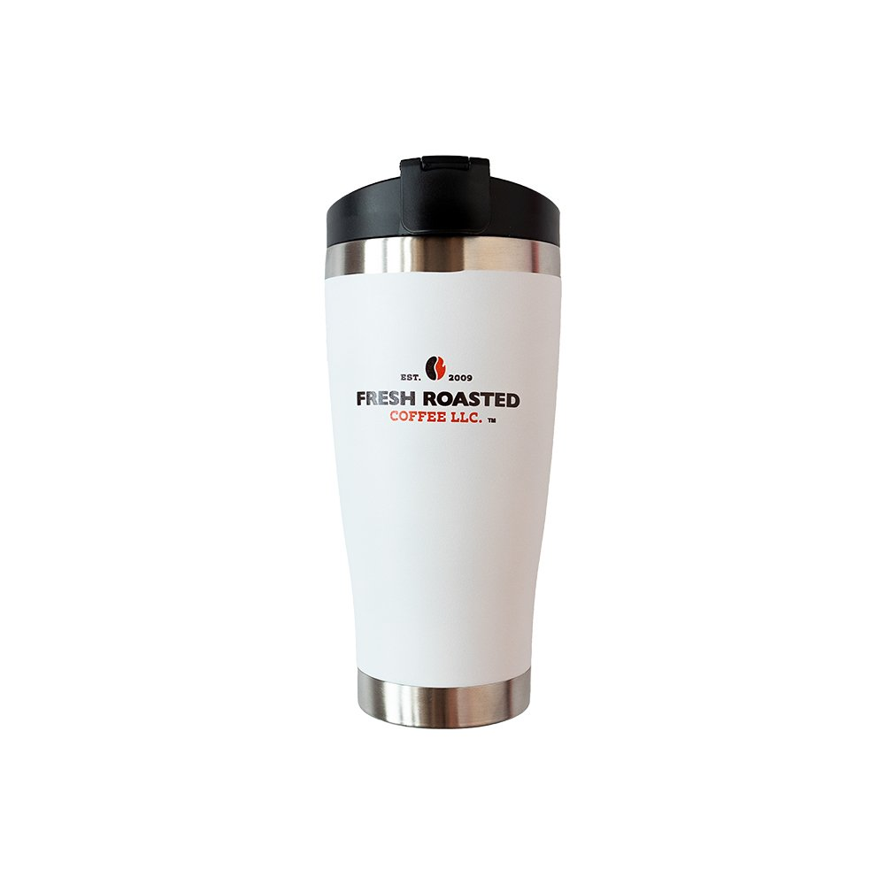 Travel Mug - White w/ Color Logo - 16 oz