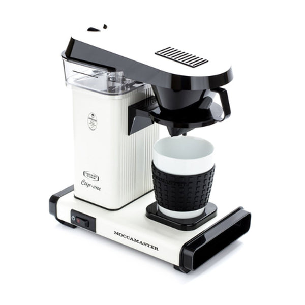 White Technivorm Moccamaster One Cup Single Server Brewer.