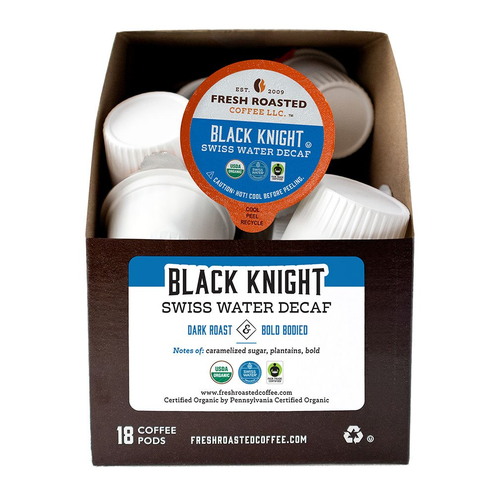 Organic Black Knight Swiss Water Decaf Coffee Pods - Fair Trade