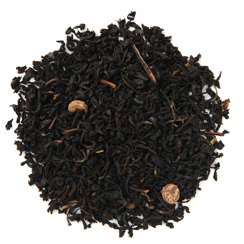 A pile of Organic Lovers Cup Black Tea.