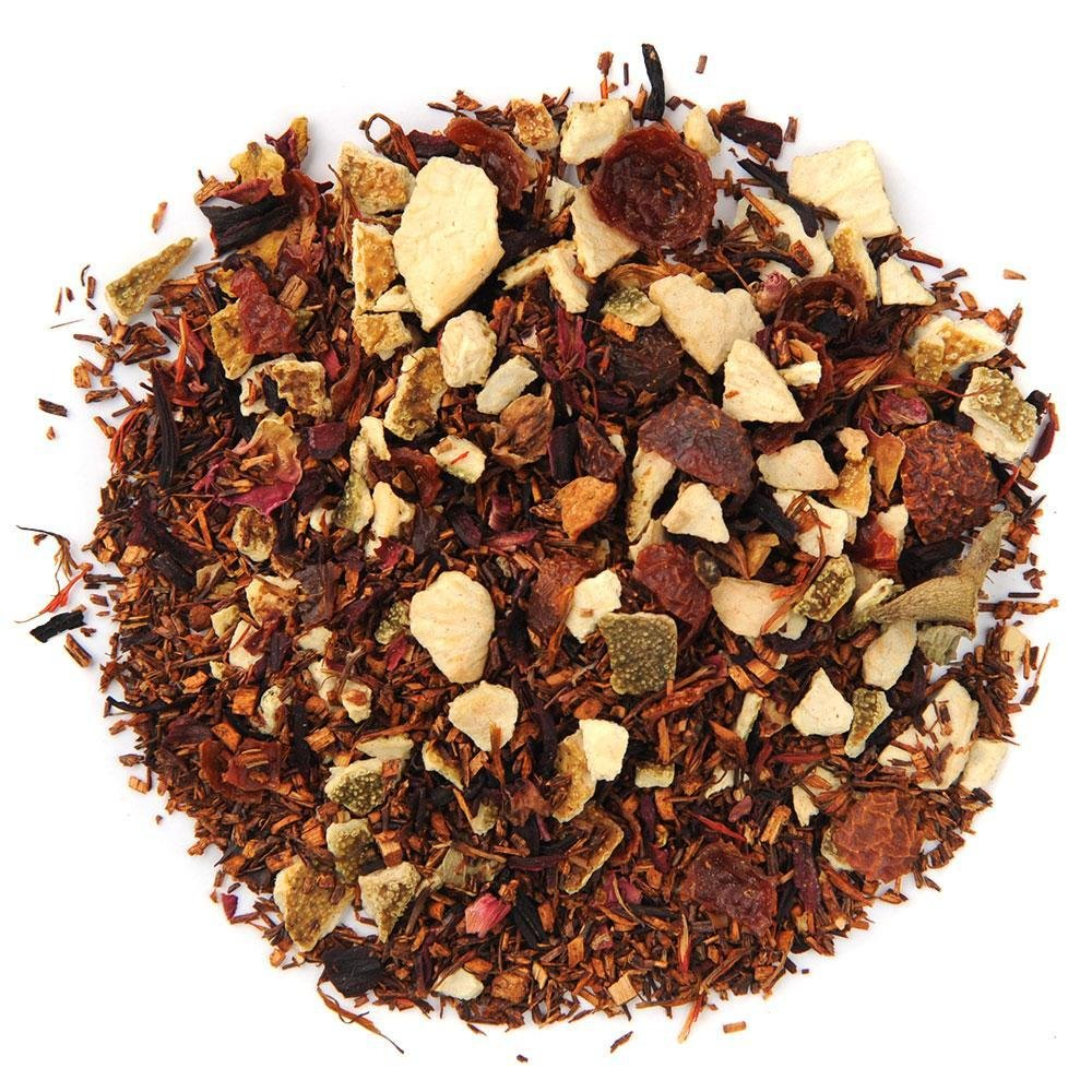 Pile of Blood Orange Vanilla Rooibos tea.