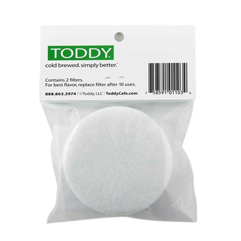 A pack of 2 Toddy Cold Brew replacement filters.
