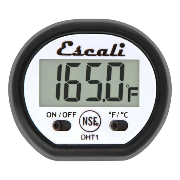 Screen display of the Escali digital pocket thermometer.