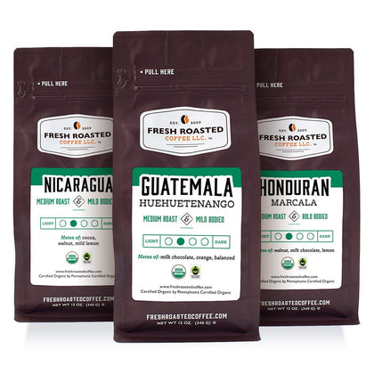 Tour of Central America (Organic) - Roasted Coffee Bundle