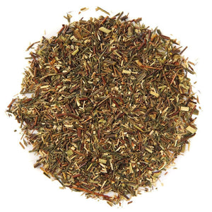 A pile of Organic South African Green Rooibos Tea.