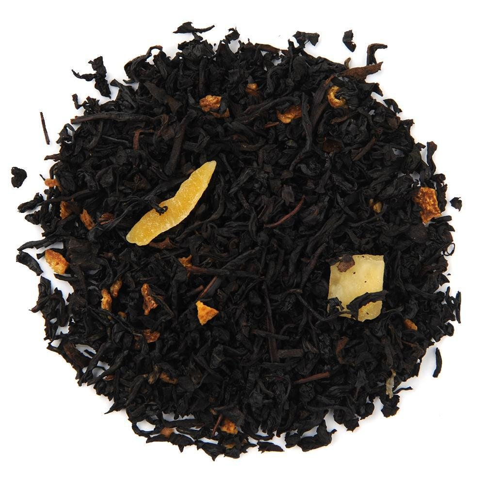 A pile of Organic Mango Tango Black Tea.