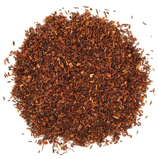 A pile of Organic South African Red Rooibos Tea.