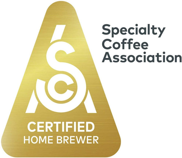 Specialty Coffee Association Certified Home Brewer.